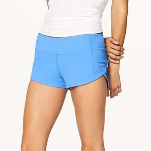 Lululemon Light Blue Speed Shorts
